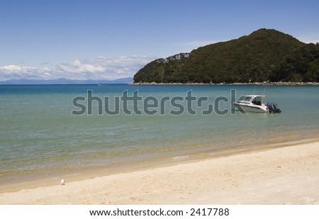 Deserted beach, New Zealand