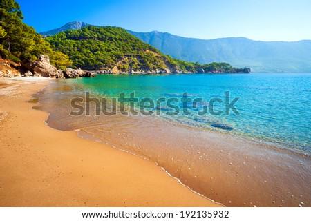 deserted beach, sea, sun, sky and sand - it's perfect!