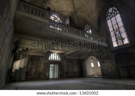 Deserted Church - stock photo