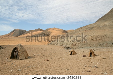 Deserted Himba Huts