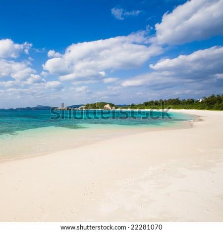 Deserted Japanese tropical island