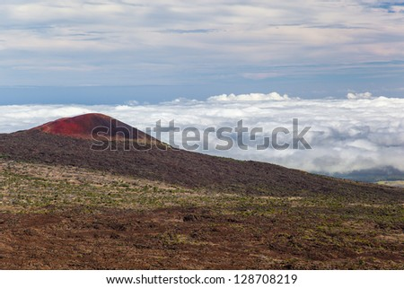Deserted landscape of Mauna Kea mountain, Big Island, Hawaii