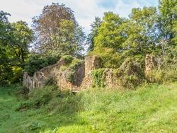 deserted old ruin in rural France