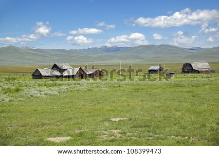 Deserted ranch in Centennial Valley, Lakeview, Montana