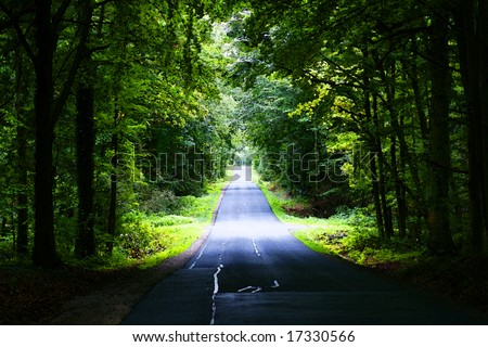 deserted rural country road