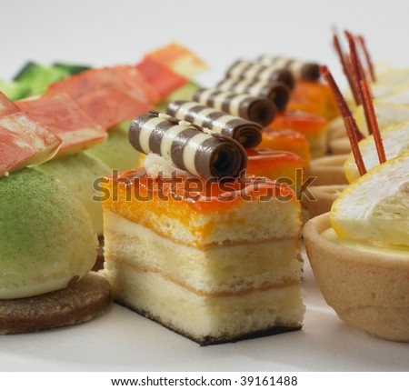 Deserts on plate