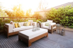 design and furniture in modern patio