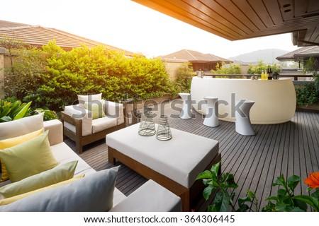 design and furniture in modern patio