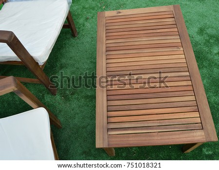 Design And Garden Furniture Table Chairs Top View 751018321
