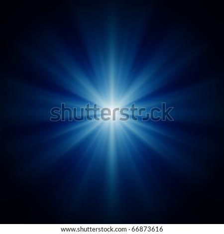 design background of blue luminous rays