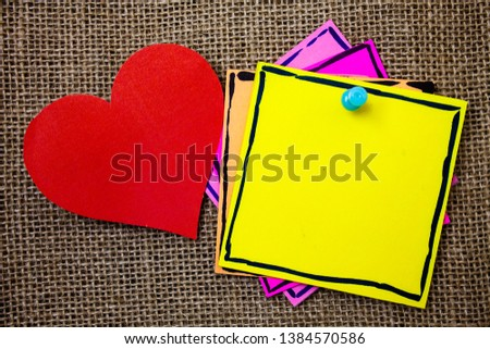 Design business concept Business ad for website promotion banners empty social media ad Ideas messages paper papers red heart lovely love message jute background #1384570586