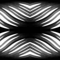 Design concept. Ready solutions interior design office. Black paper ribbon arranged like a fractal. Macro lens closeup shot 1:1