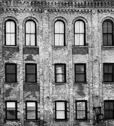 Design details of Modern and Classic Architecture in Manhattan. Photographed in high contrast and black and white to bring out the design details and architectural features of these landmark buildings