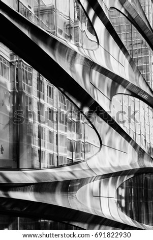 Design details of Modern and Classic Architecture in Manhattan. Zaha Hadid.