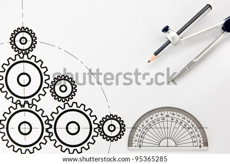 Design drawing cog.