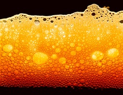 design element. Beer bubbles macro