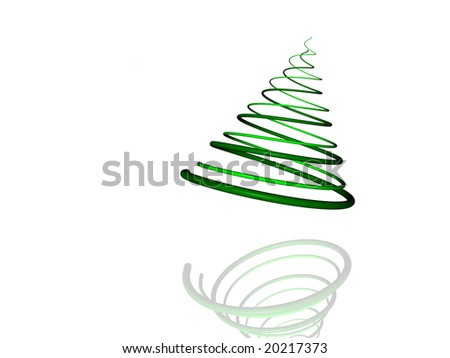 Design Element: Christmas Tree Illustration Isolated on White Background