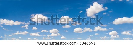 Design elements, cloudscape panorama, African sky, nature series