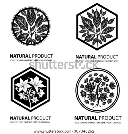 Design elements for organic natural logos