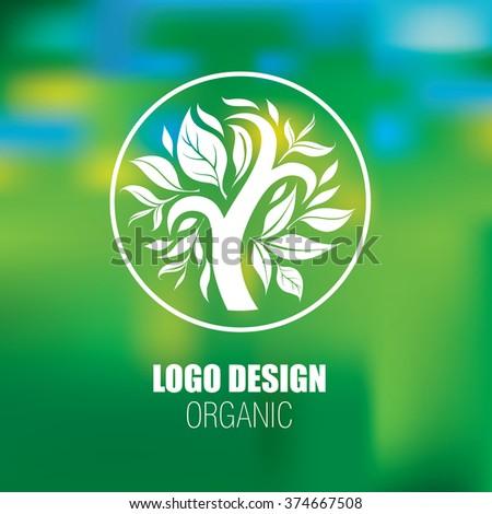 Design elements for organic natural logos