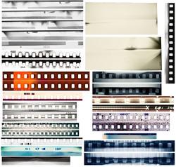 Design elements set, film borders.