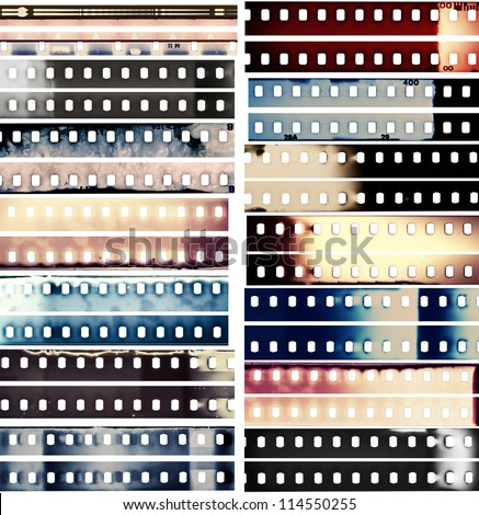 Stock Photo Design elements set, film borders.