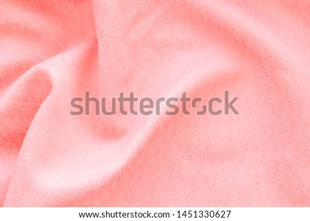 Design for blog with pink fabric texture background top view space for text #1451330627