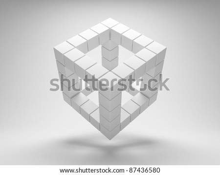 Design geometric shapes of the cubes