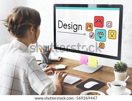 Design Innovation Simulation Icon Graphic #569269447