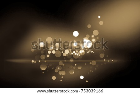 Design Lens night Golden color background - Photographic Effects
