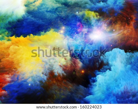 Design made of dreamy forms and colors to serve as backdrop for projects related to dream, imagination, fantasy and abstract art