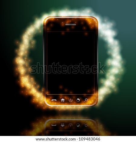 Design mobile phone. Raster version, vector file id: 108609305