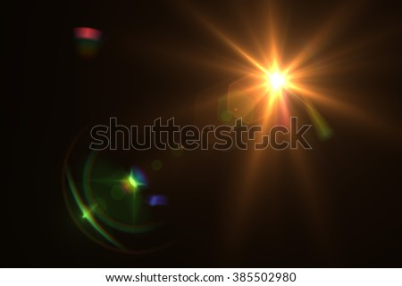 Design natural lens flare. Rays background - Shutterstock ID 385502980
