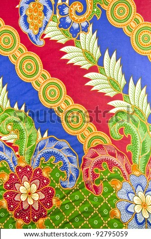 Design of batik in traditional concept.
