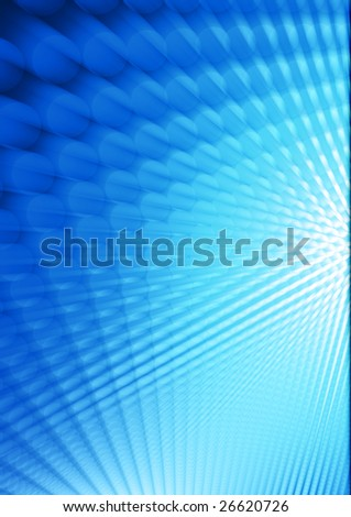 design of blue perspective doted background