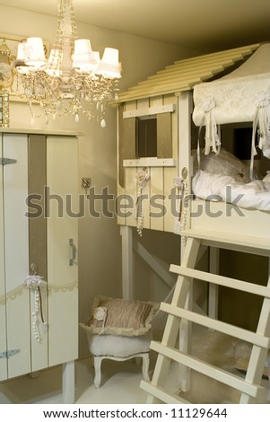 design of child room in country classic style
