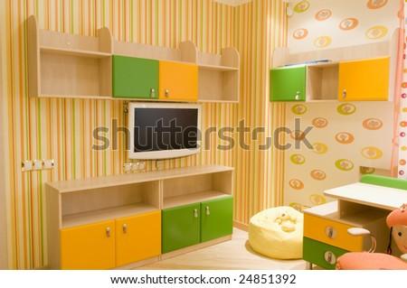 Design of child-room  modern  interior