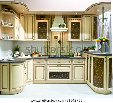 Design of classical modern kitchen