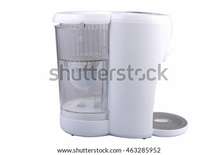 Design of modern electric kettle on a white background