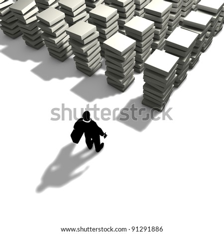 Design of organization structure and work process - stock photo