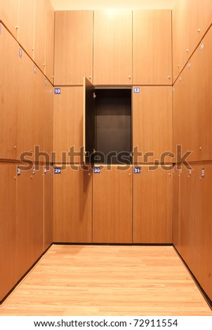 Design of wooden locker.