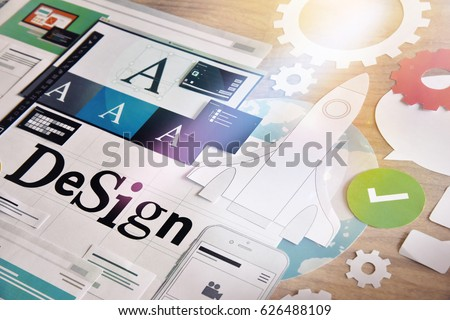 Design services. Concept for different categories of design, graphic and web design, logo, stationary and product design, company identity, branding, marketing material, mobile app, social media. #626488109