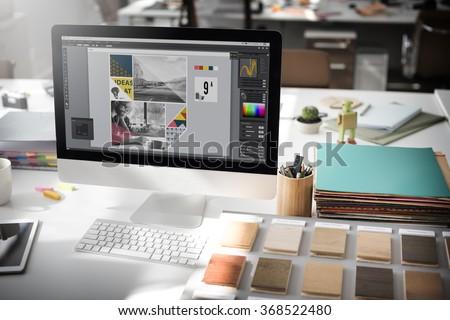 Design Studio Creativity Ideas Wood Palette Decoration Concept - Shutterstock ID 368522480