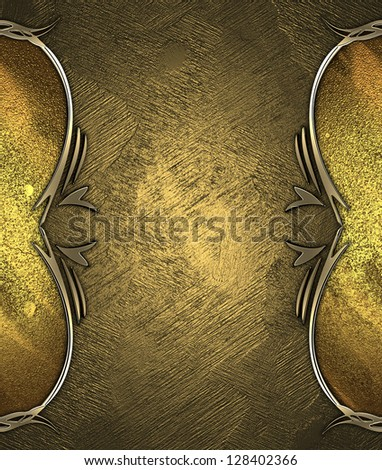 Design template - Abstract gold background with abstract gold pattern on edges