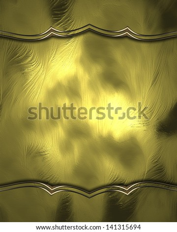 Design template - Abstract gold background with gold edges and gold trim. Design for website