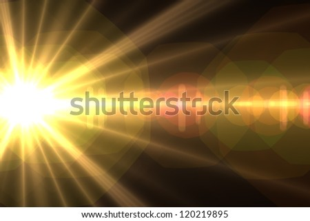 Design template Star sun with lens flare Rays background