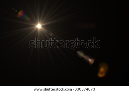 Design template - Star, sun with lens flare. Rays background - Shutterstock ID 330574073