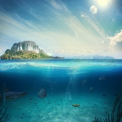 Design template with underwater part