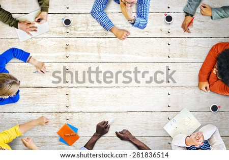 Design Think Discussion Creative Meeting Brainstorm Concept - Shutterstock ID 281836514