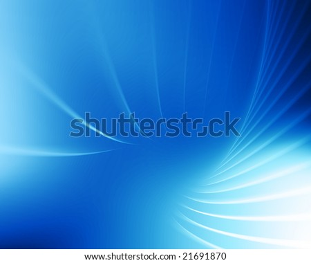 design with curved lines on blue background